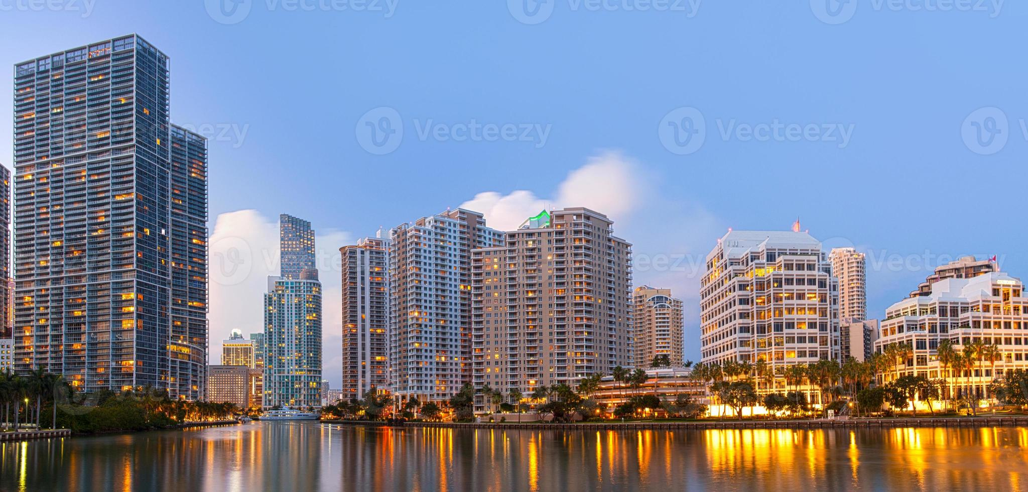 City of Miami Florida, downtown office buildings photo