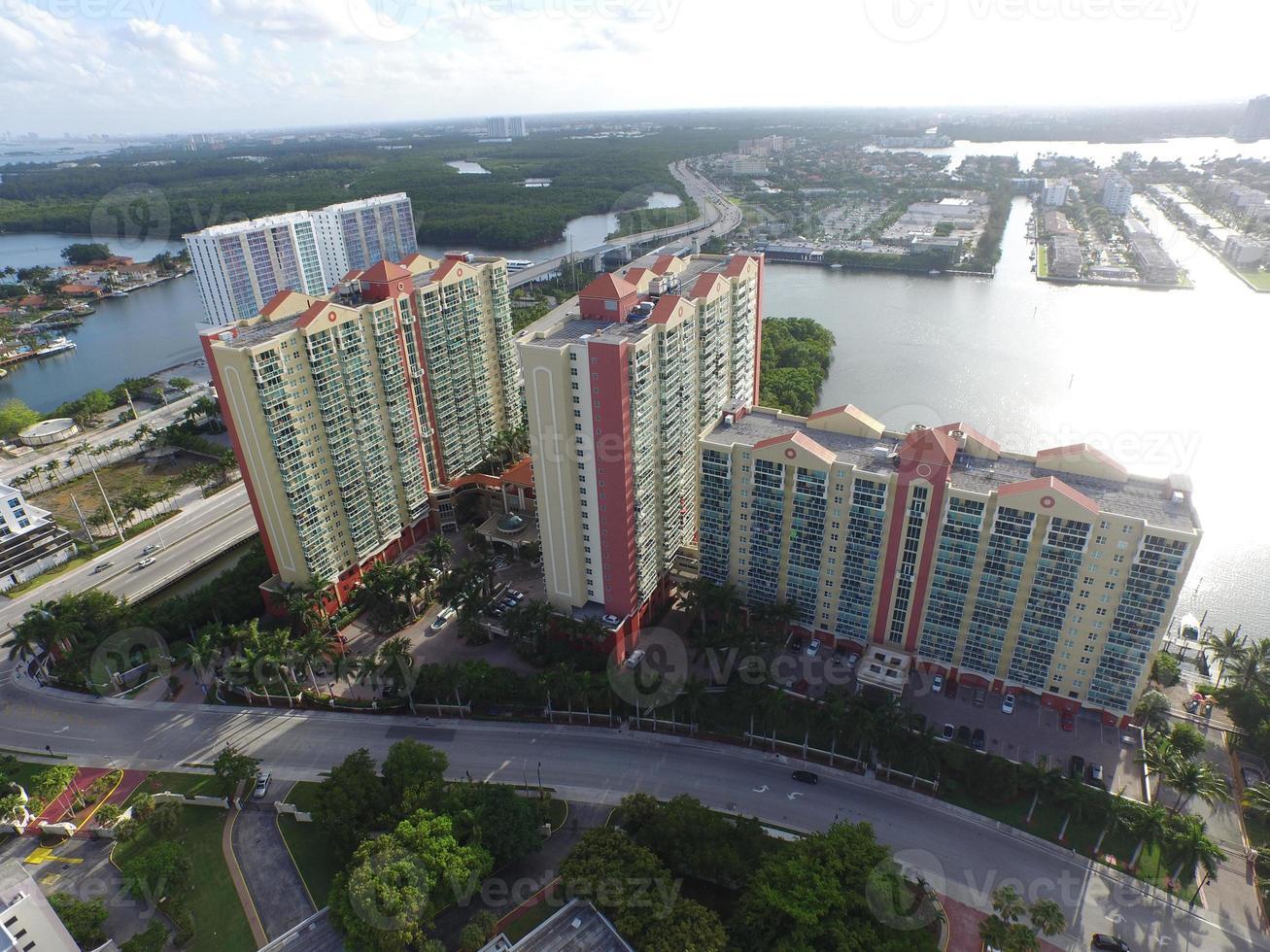 Aerial photo of a condominium community