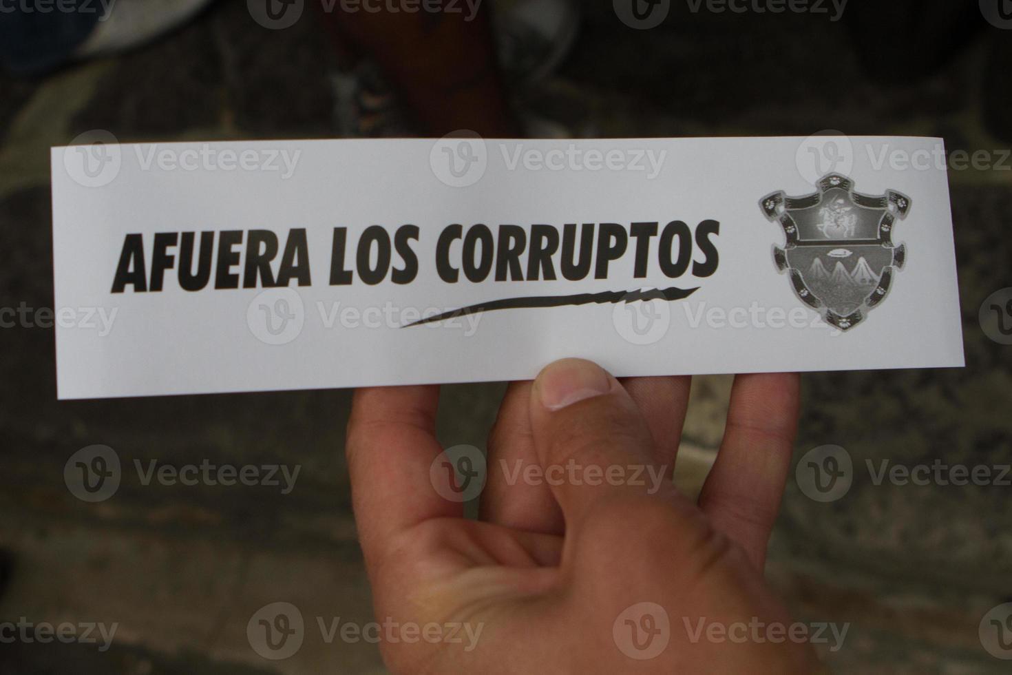 protesta guatemalteca foto