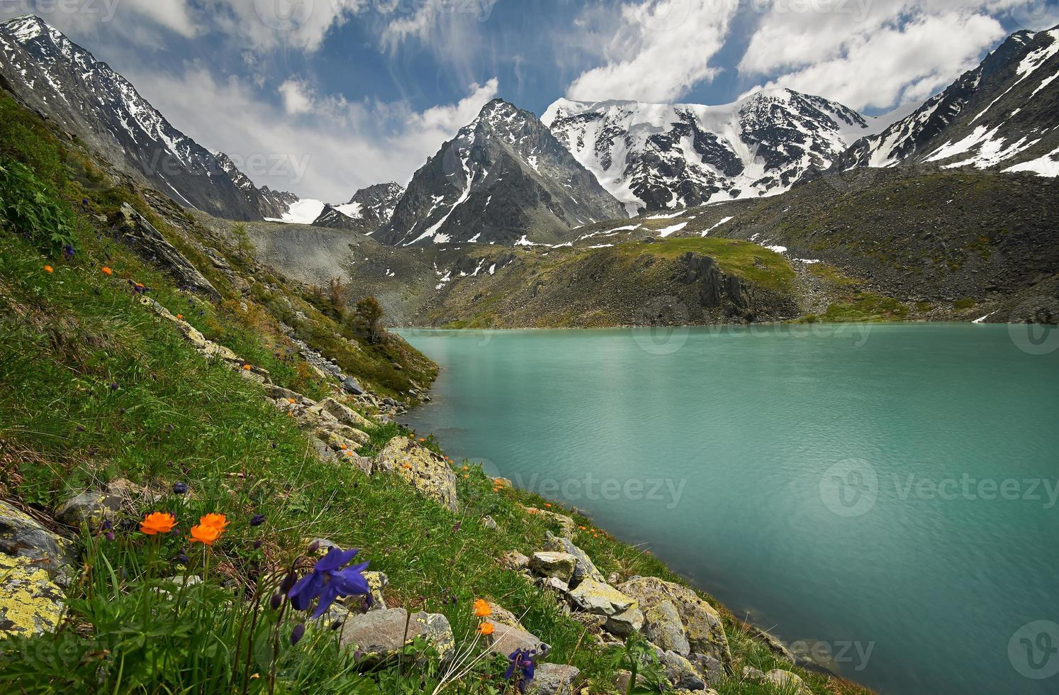 Mountain lake photo