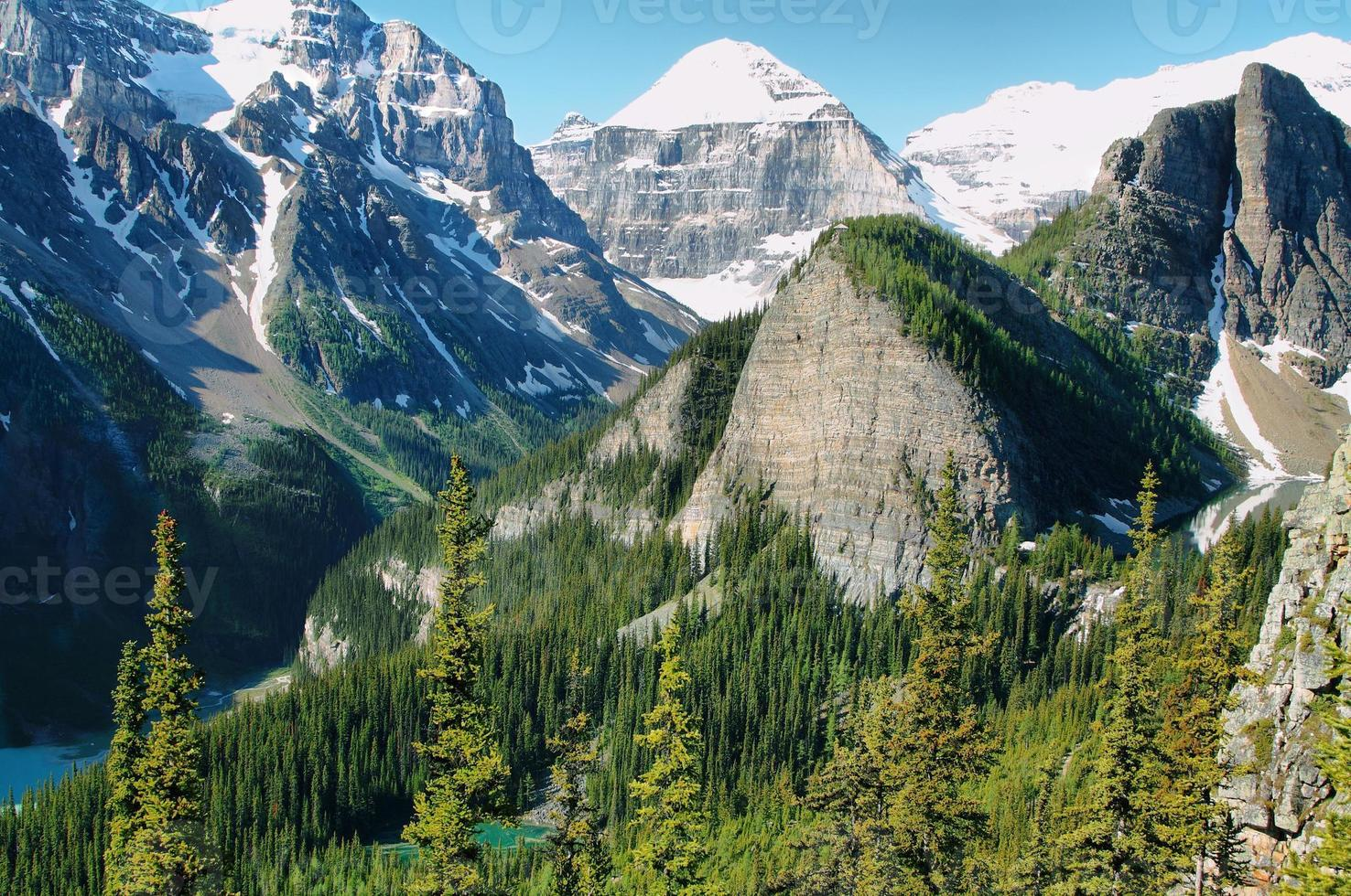 Panorama of Lake Louise from Little Beehive photo