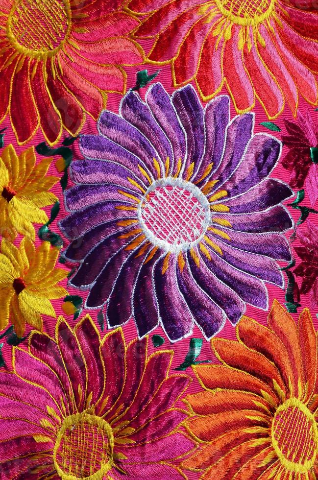Traditional handmade mexican fabric photo