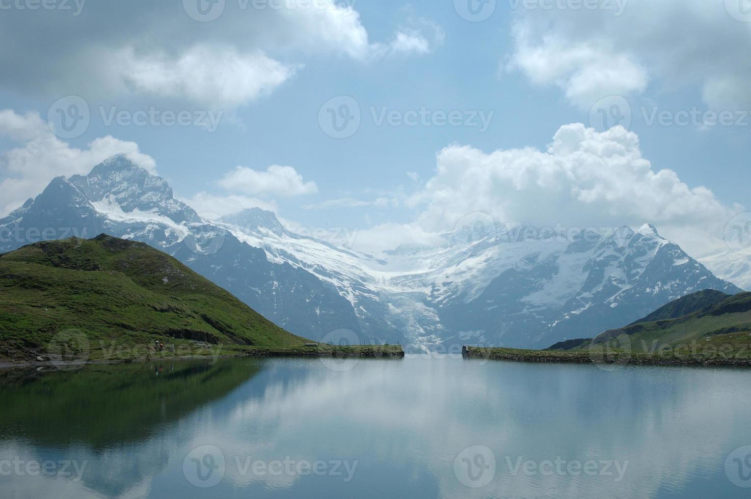 Lake in Alps photo