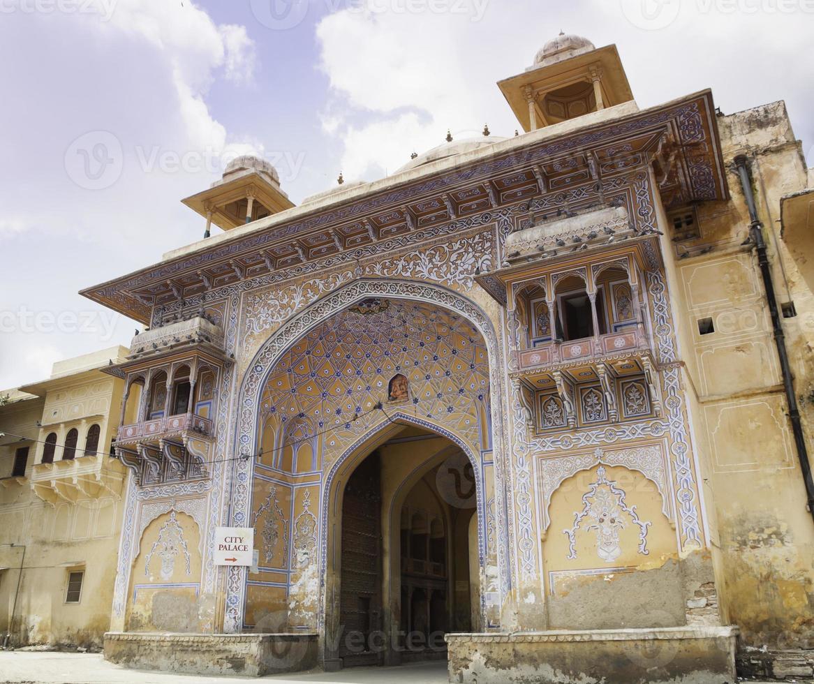 puerta tripolia, palacio de la ciudad de jaipur foto