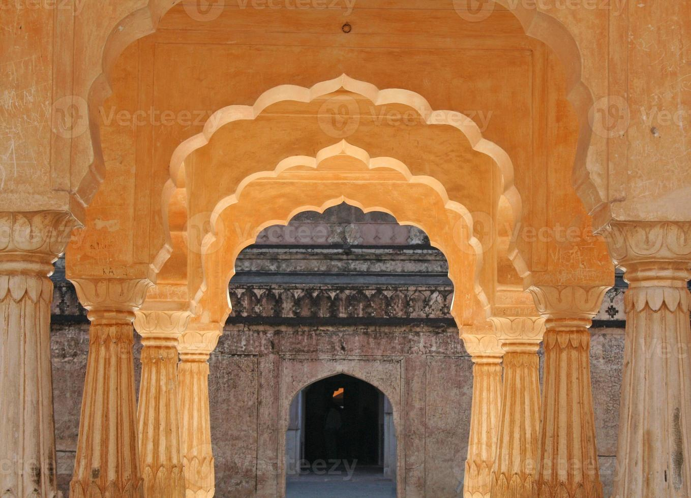 Palacio de ámbar en Jaipur, India foto