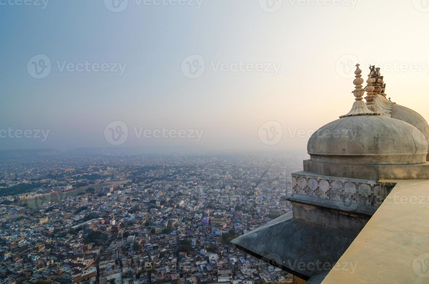 Nahargarh fort and view to Jaipur city photo