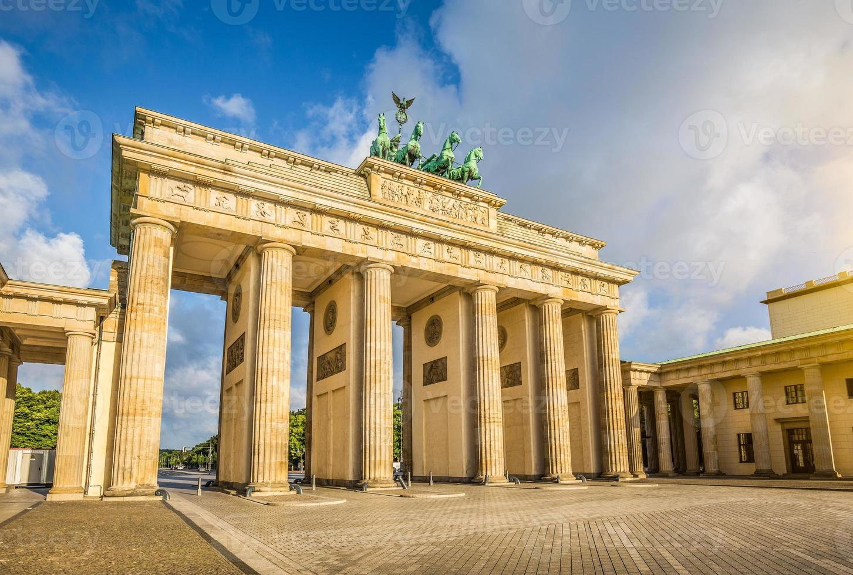 Brandenburg Gate at sunrise, Berlin, Germany photo