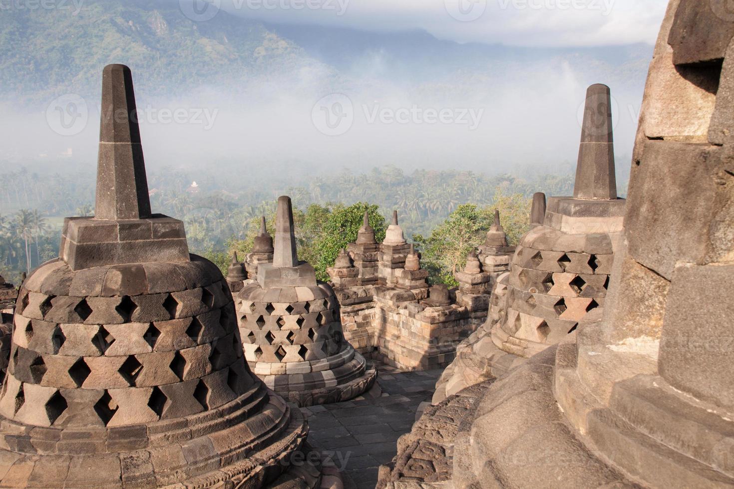 Borobudur temple near Yogyakarta on Java island, Indonesia photo