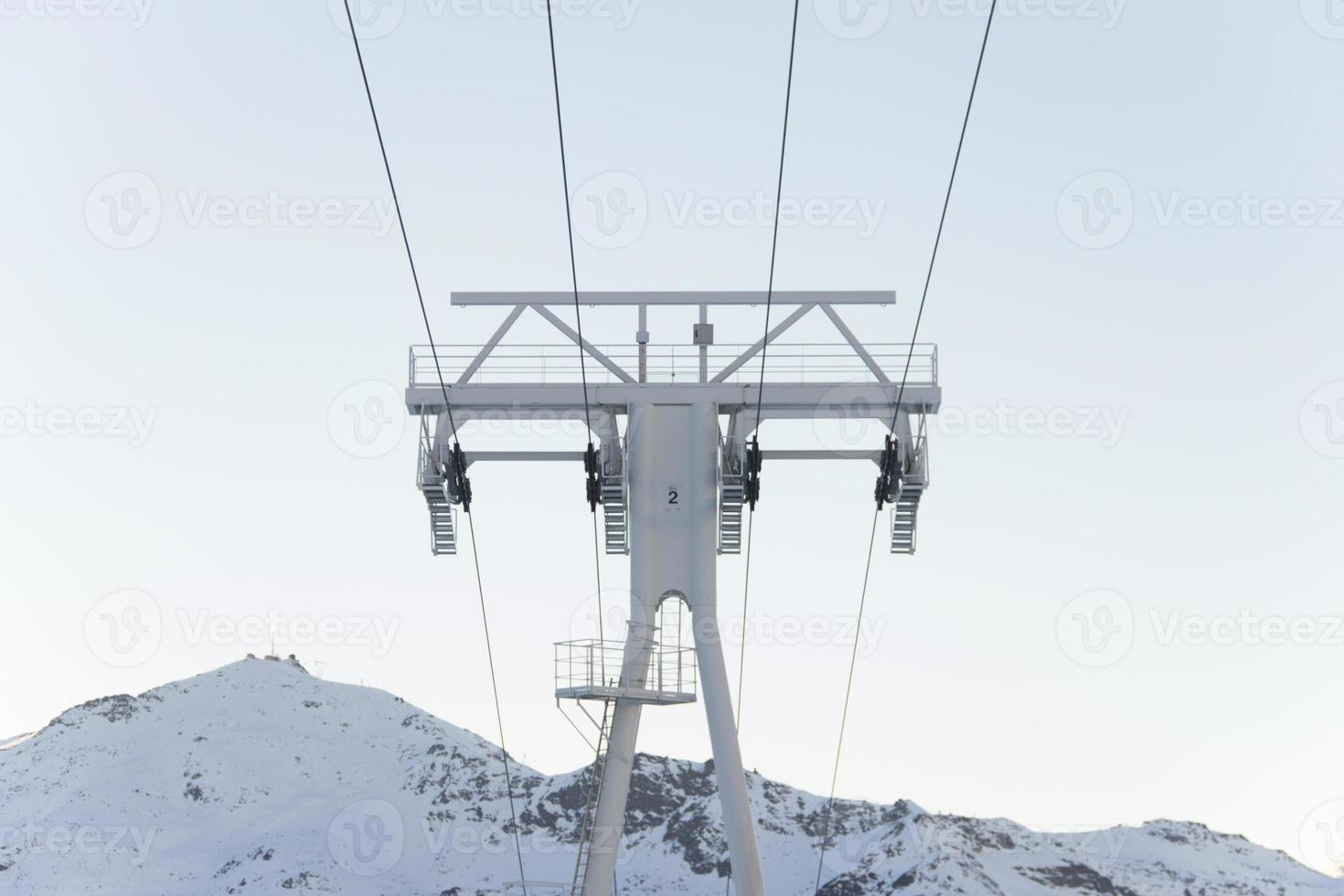 French Alps Chair Lift photo