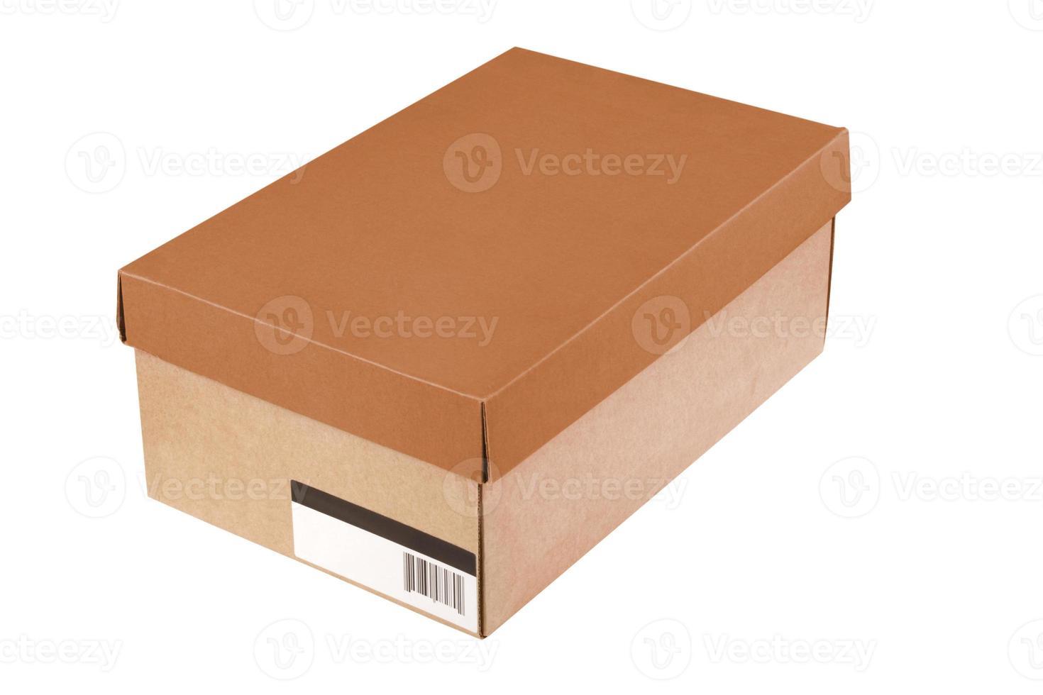 caja de zapatos simple con código de barras foto