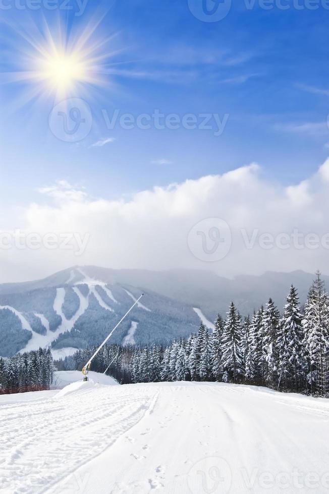 estación de esquí foto