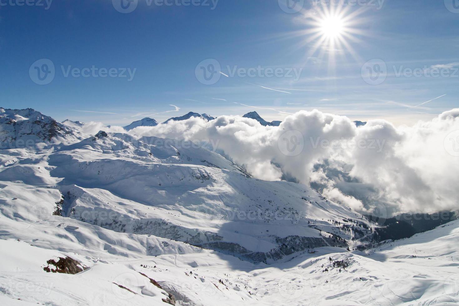 French Alps ski resort La Plagne photo