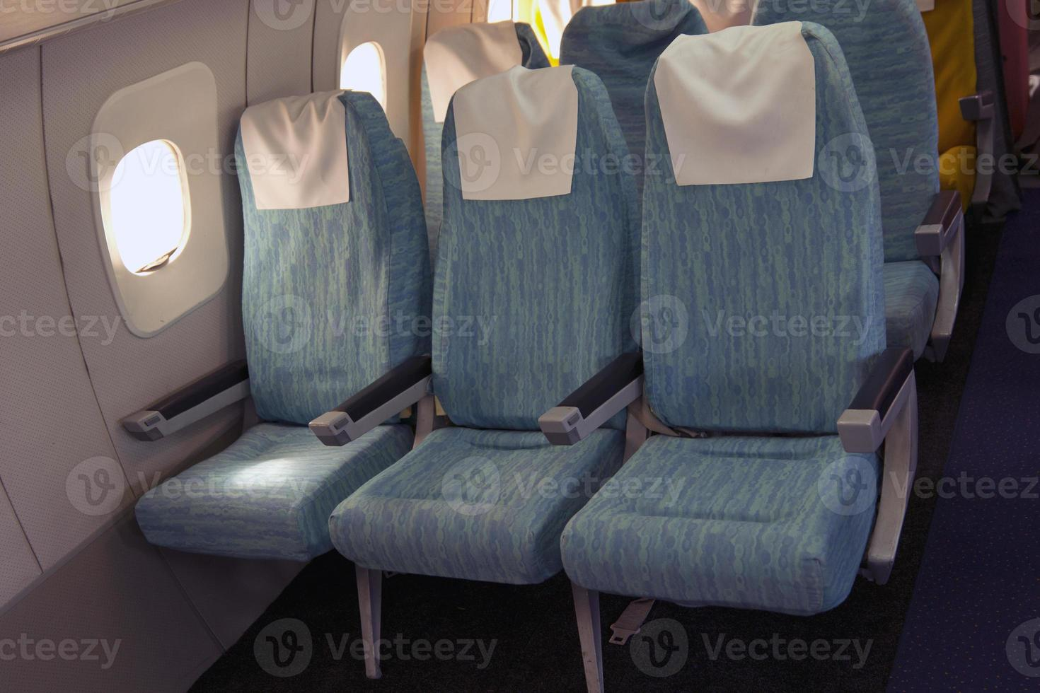 Comfortable seats in aircraft cabin Tu-144. photo