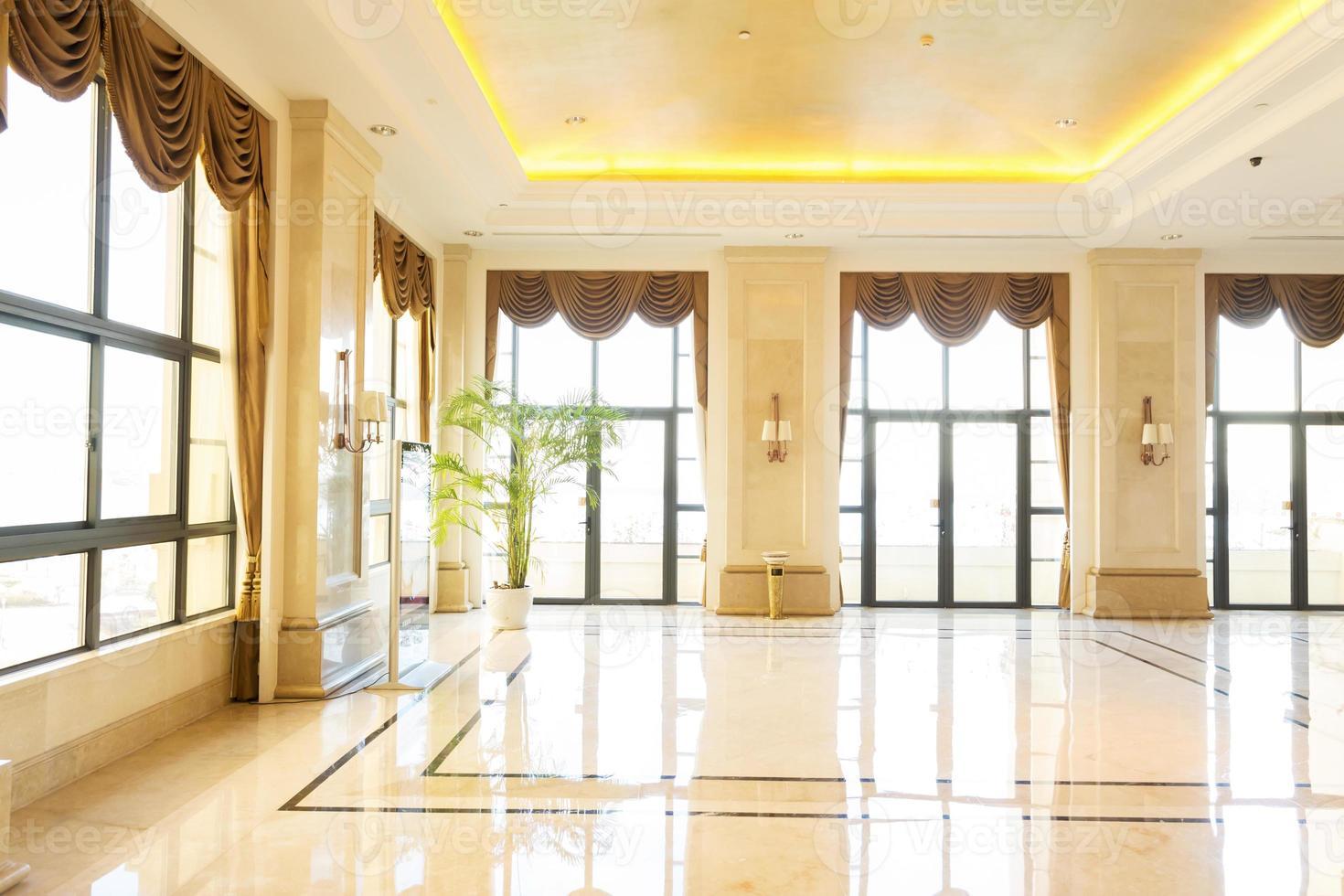 moderno hotel interior y corredor foto