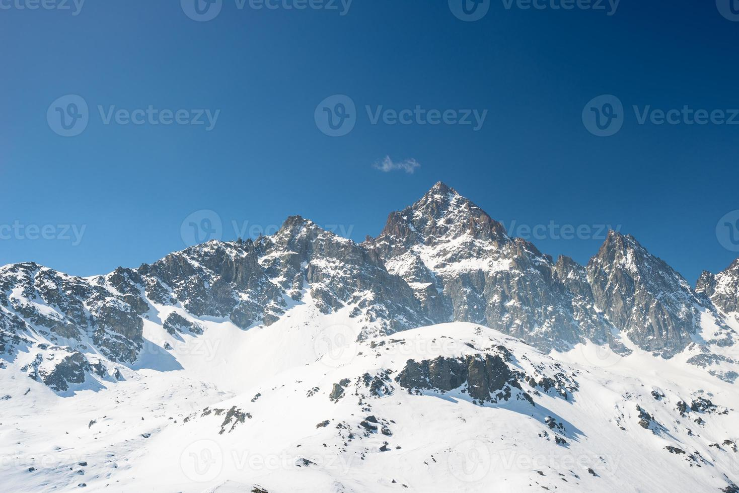 Majestic mountain peaks in the Alps photo
