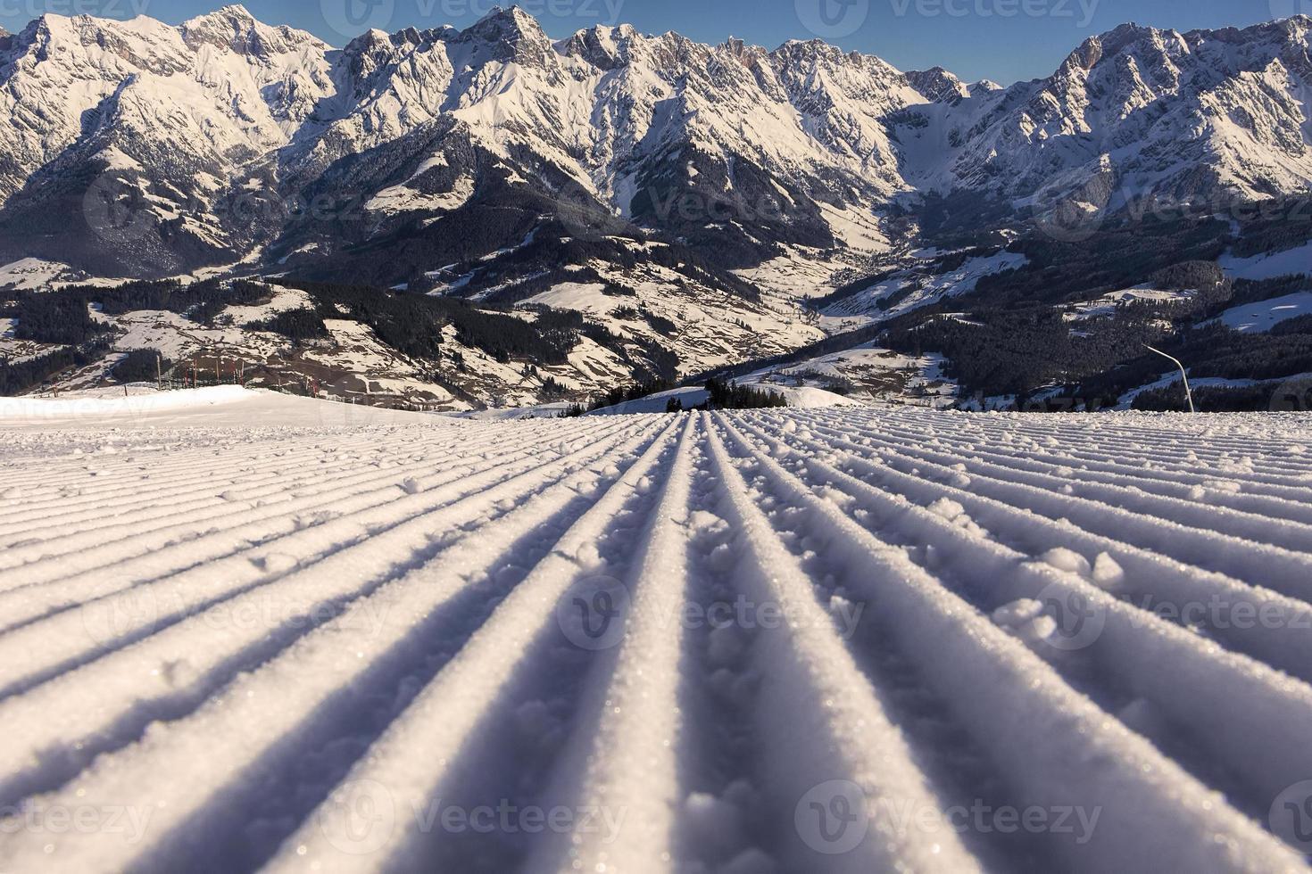 pista de esqui perfeita foto