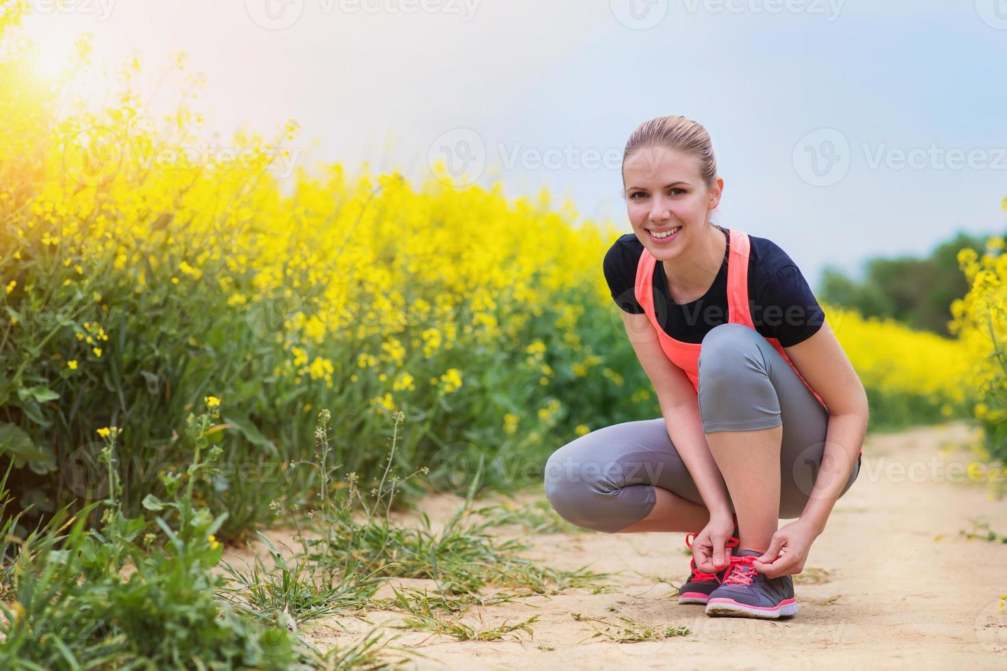 Young woman running photo