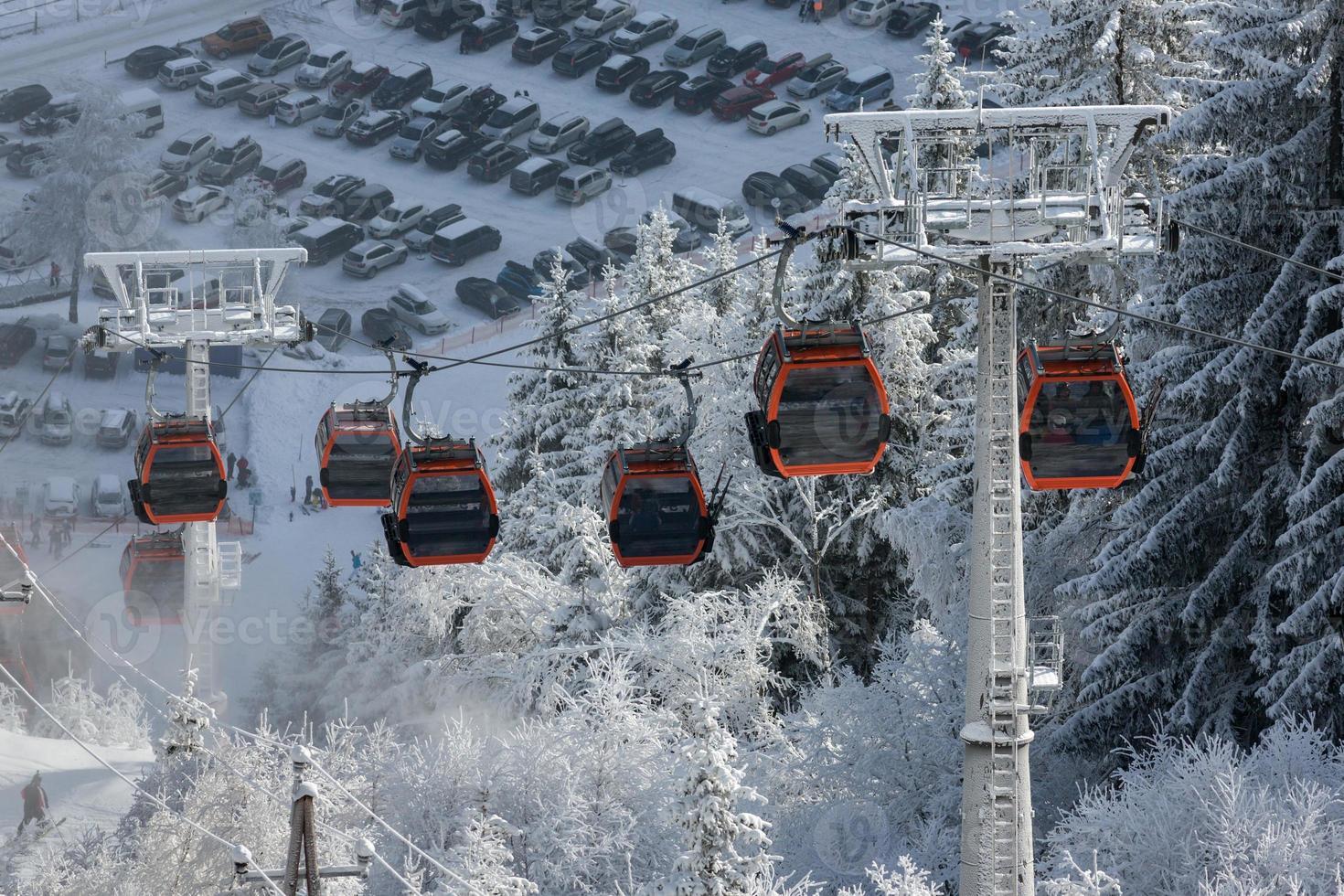 Cabin ski lift photo