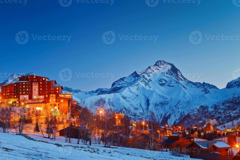 Ski resort in Alps photo