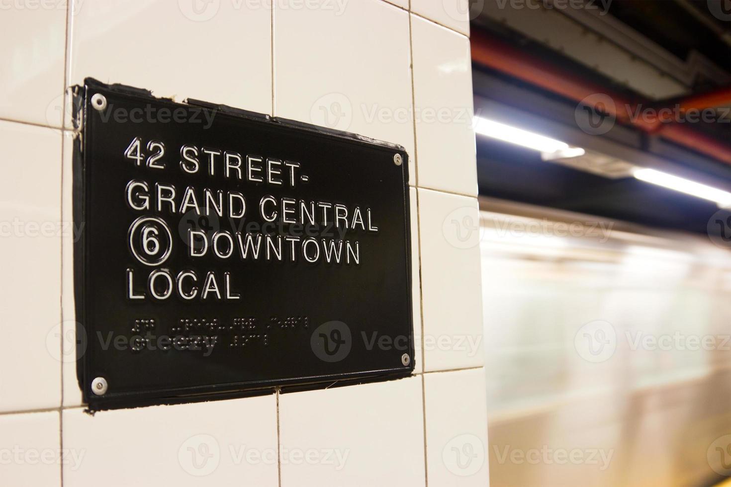 42nd st. estación de metro, nueva york foto