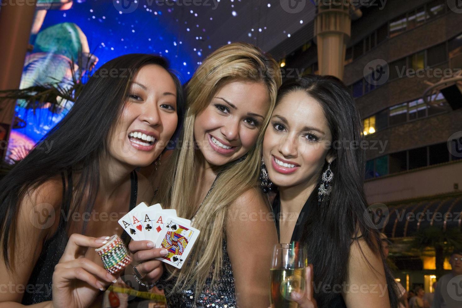 Three women in Vegas photo
