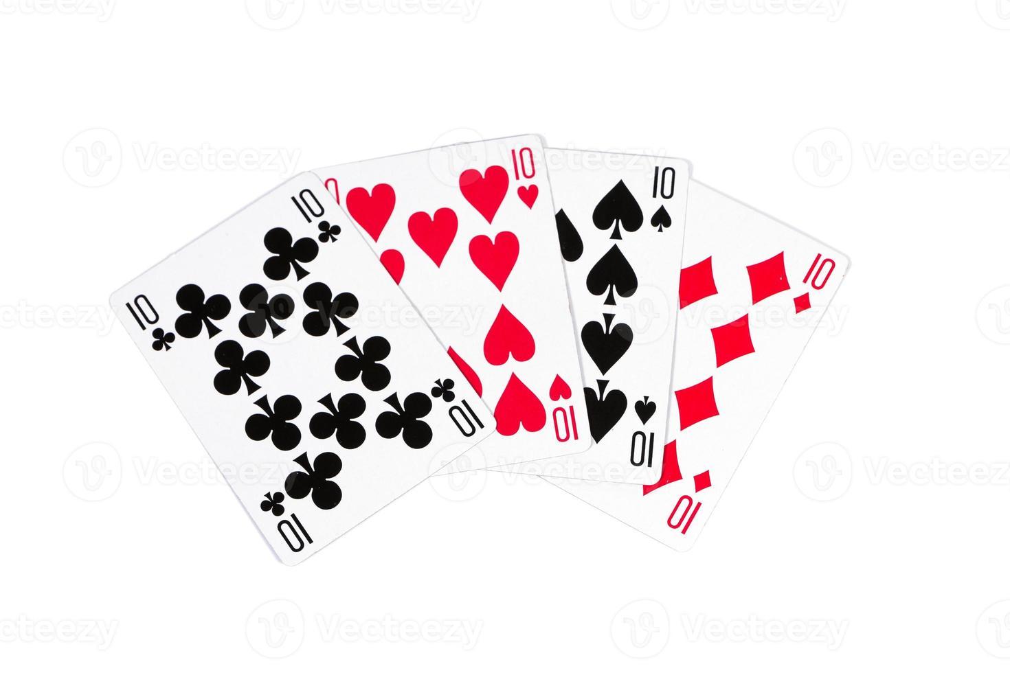 cartas de póker foto