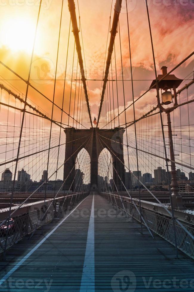 Brooklyn bridge, New York, USA photo
