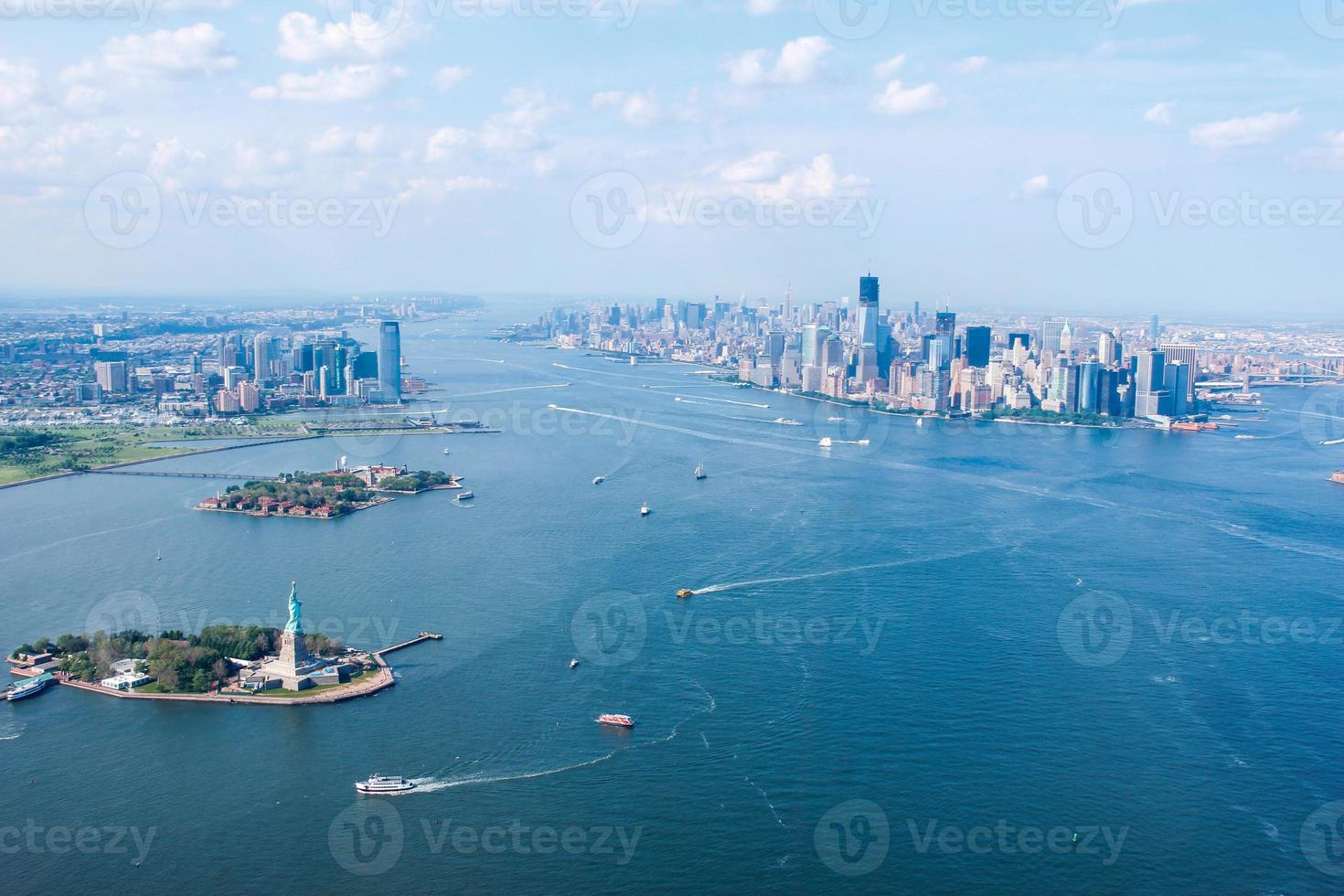 New York City Sky View, Liberty & Ellis Island y Jersey City foto