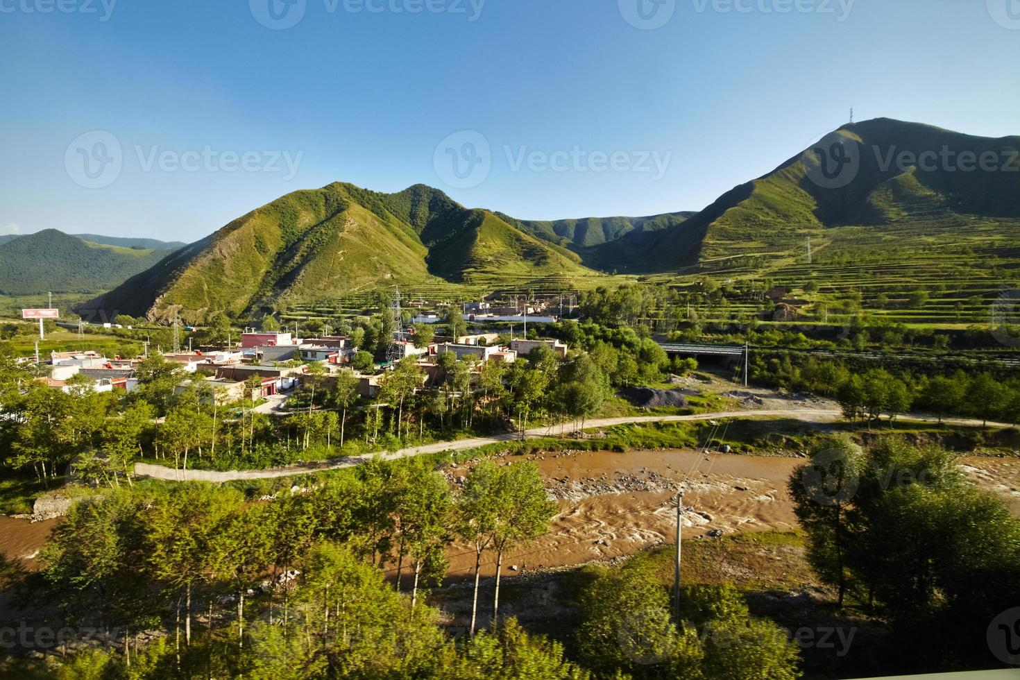 China outskirt view photo