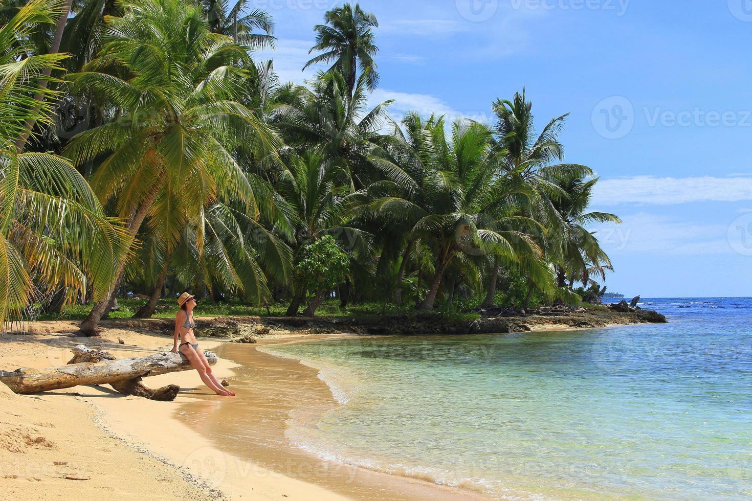 "Main view of the southern beach at ""Pelicano"" Island"", Panama photo"