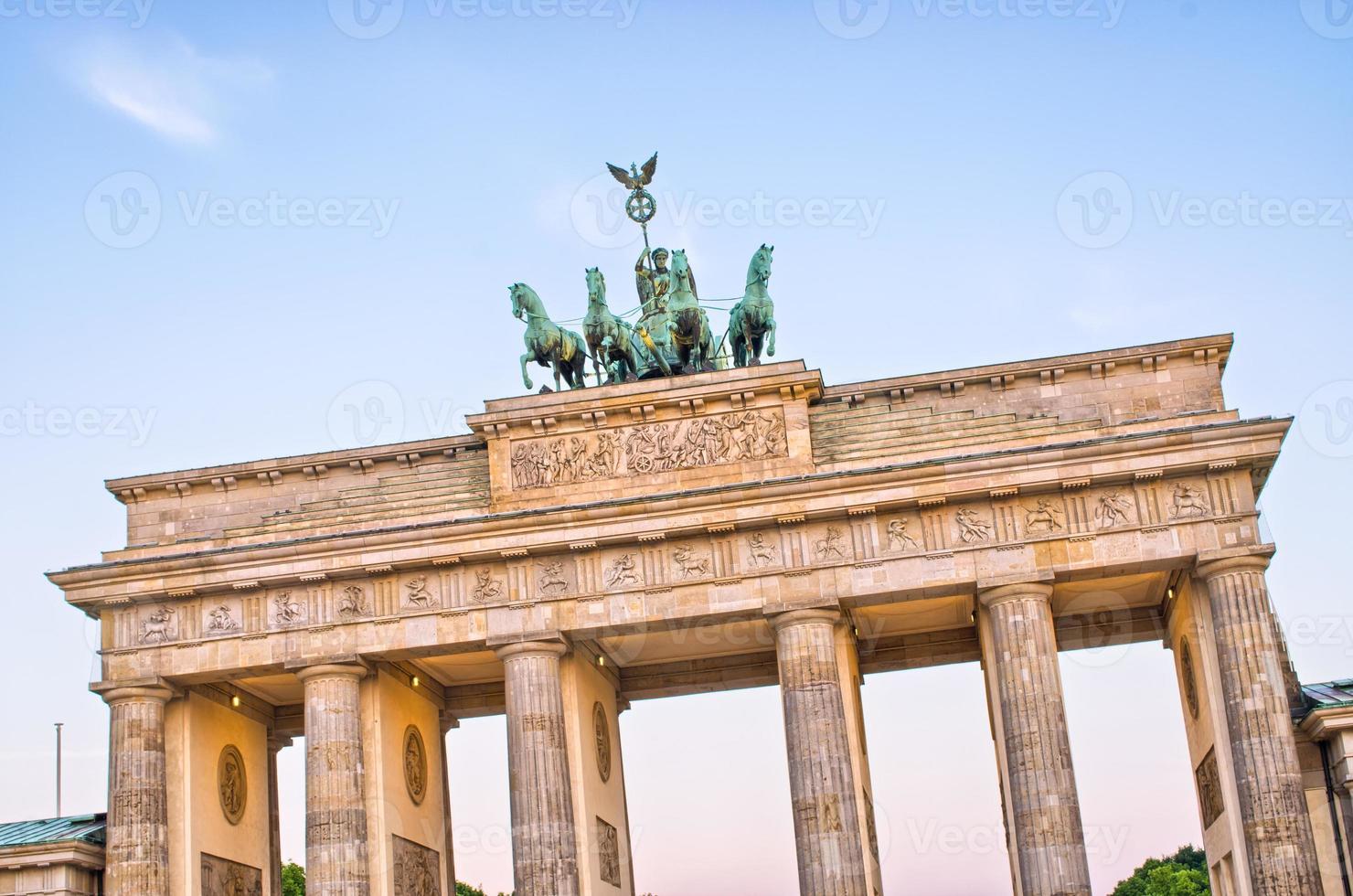 Statue on Brandenburg Gate, Berlin, Germany photo