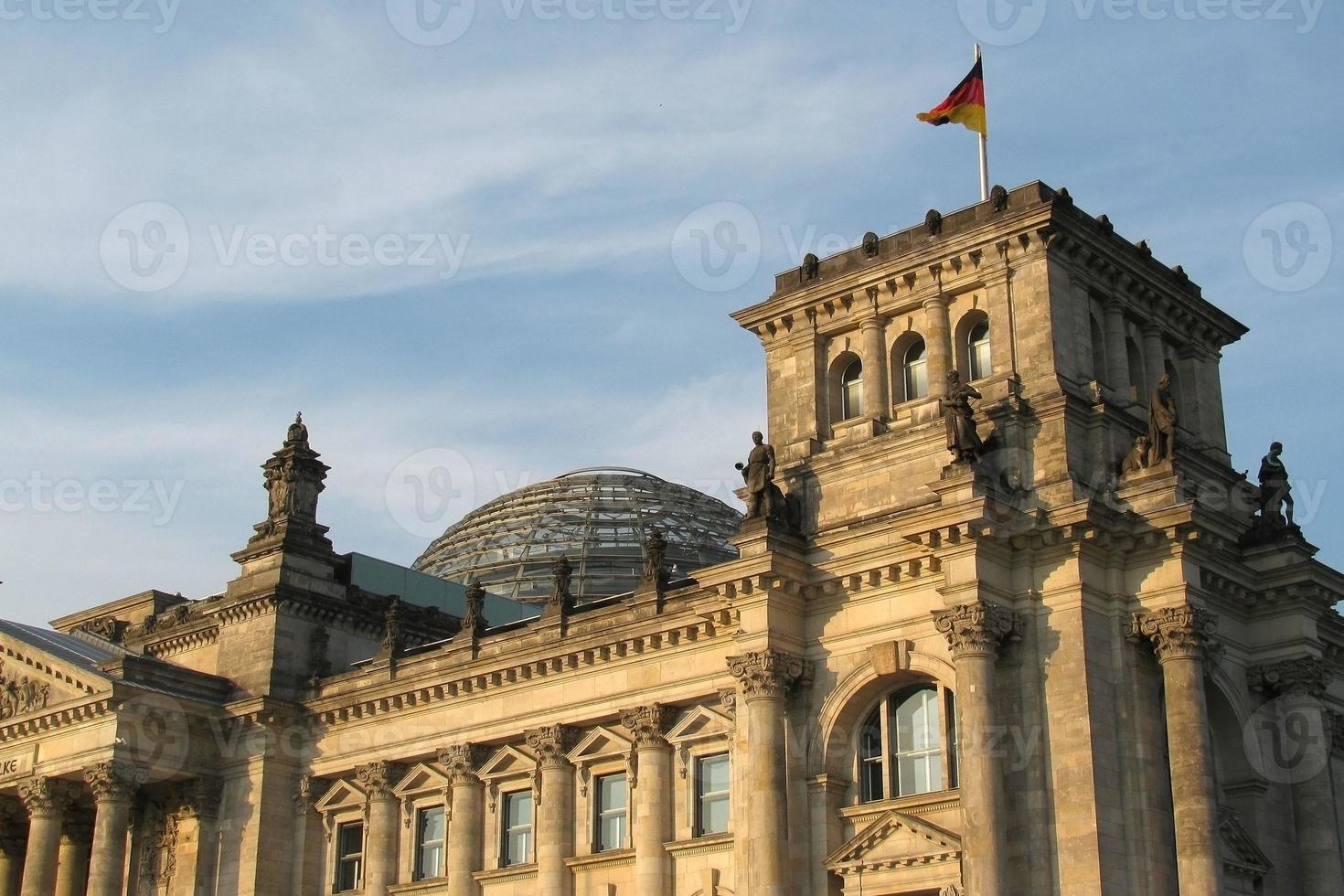 Berlina. el edificio del reichstag foto