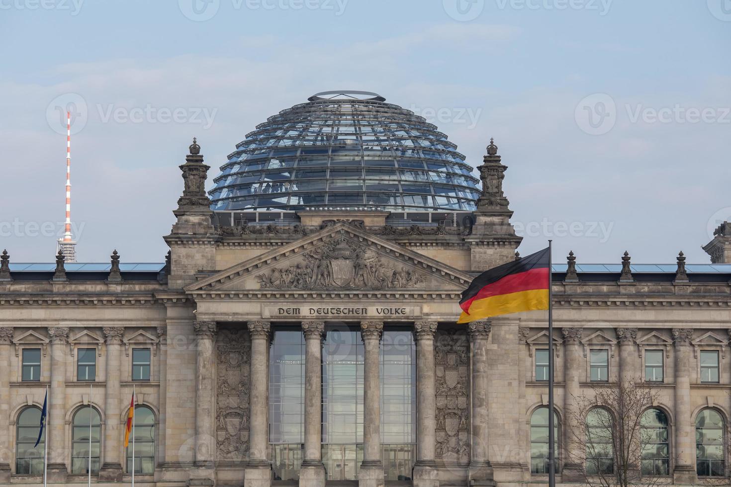 Bundestag alemán en Berlín foto