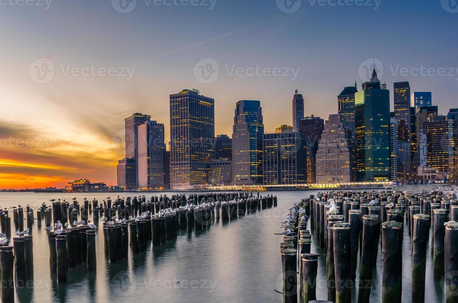Sunset over Downtown Manhattan photo