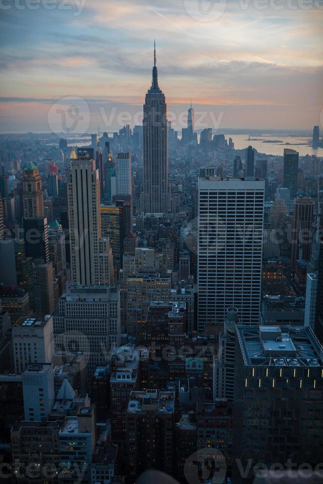 Dusk Settles Over Manhattan photo