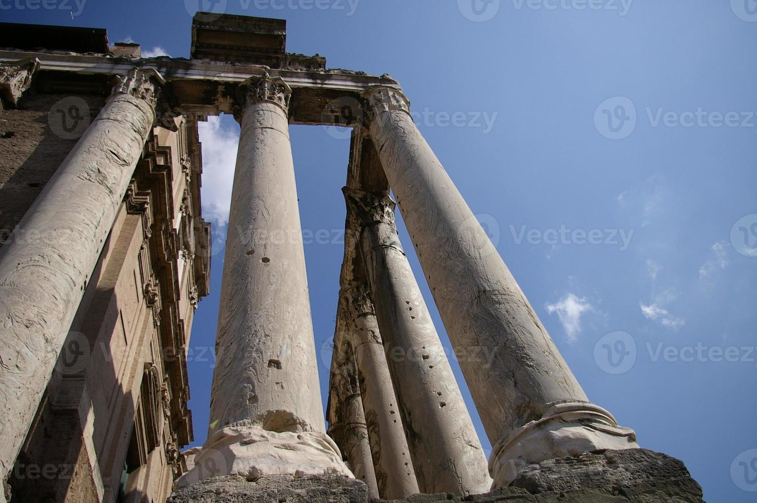 Roman Forum Columns photo