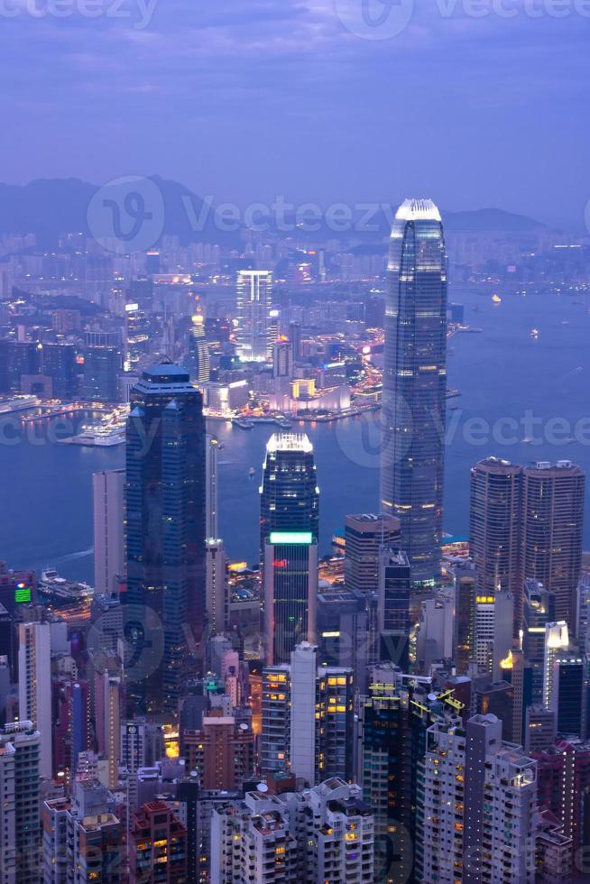 Victoria Harbour at night ,Hong Kong China photo