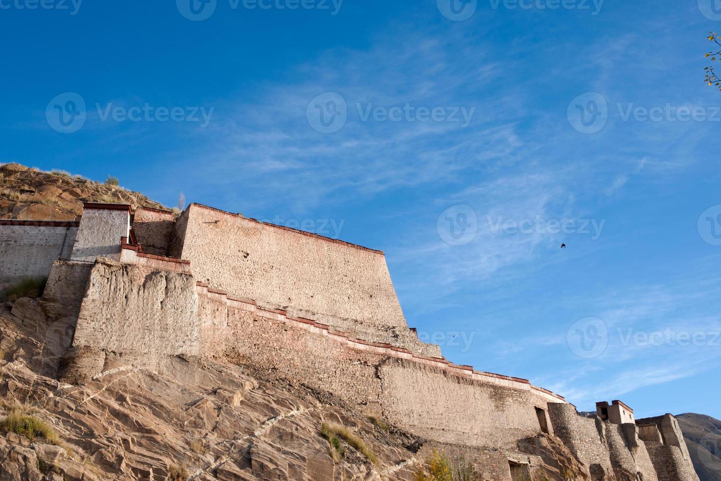 Castillo Zongshan. tomado en el gyangtse (gyangze) del tíbet. foto