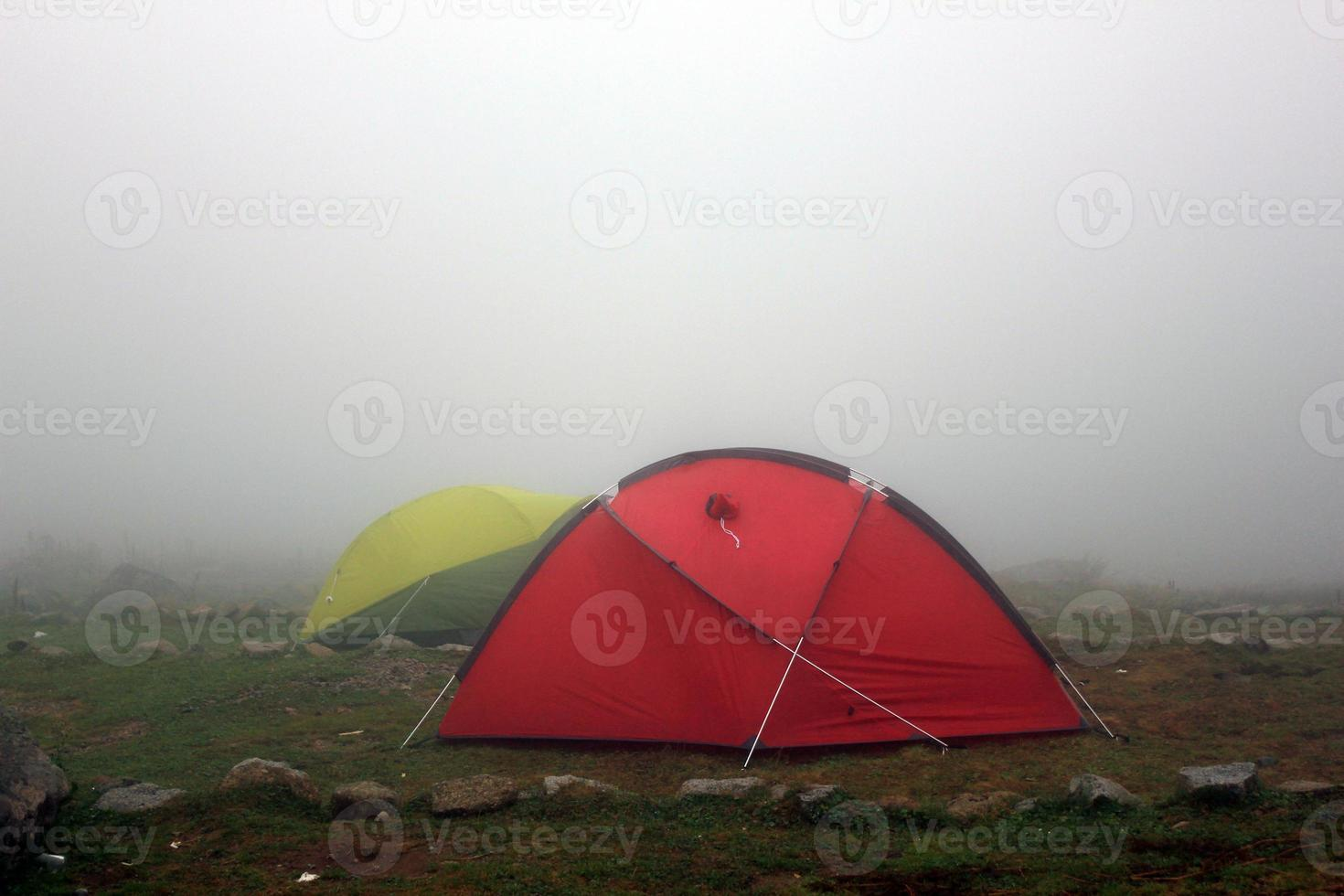 camping under fog photo