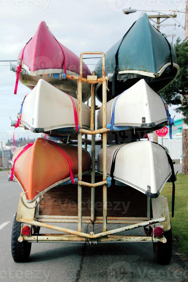 porta canoas para vehículo foto