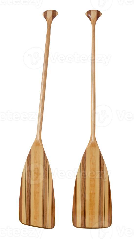 pá de madeira canoa eixo dobrado foto