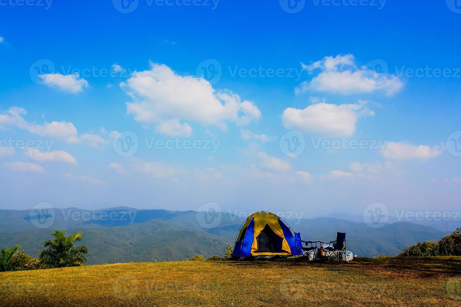 Camping on the mountain photo