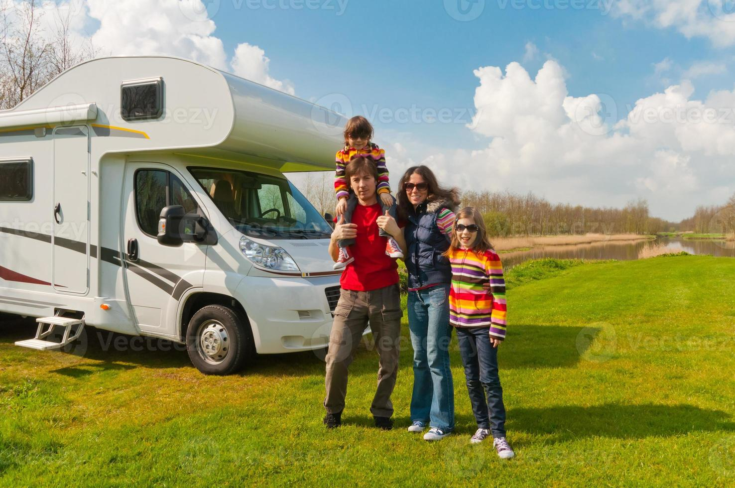 Family vacation in camping photo