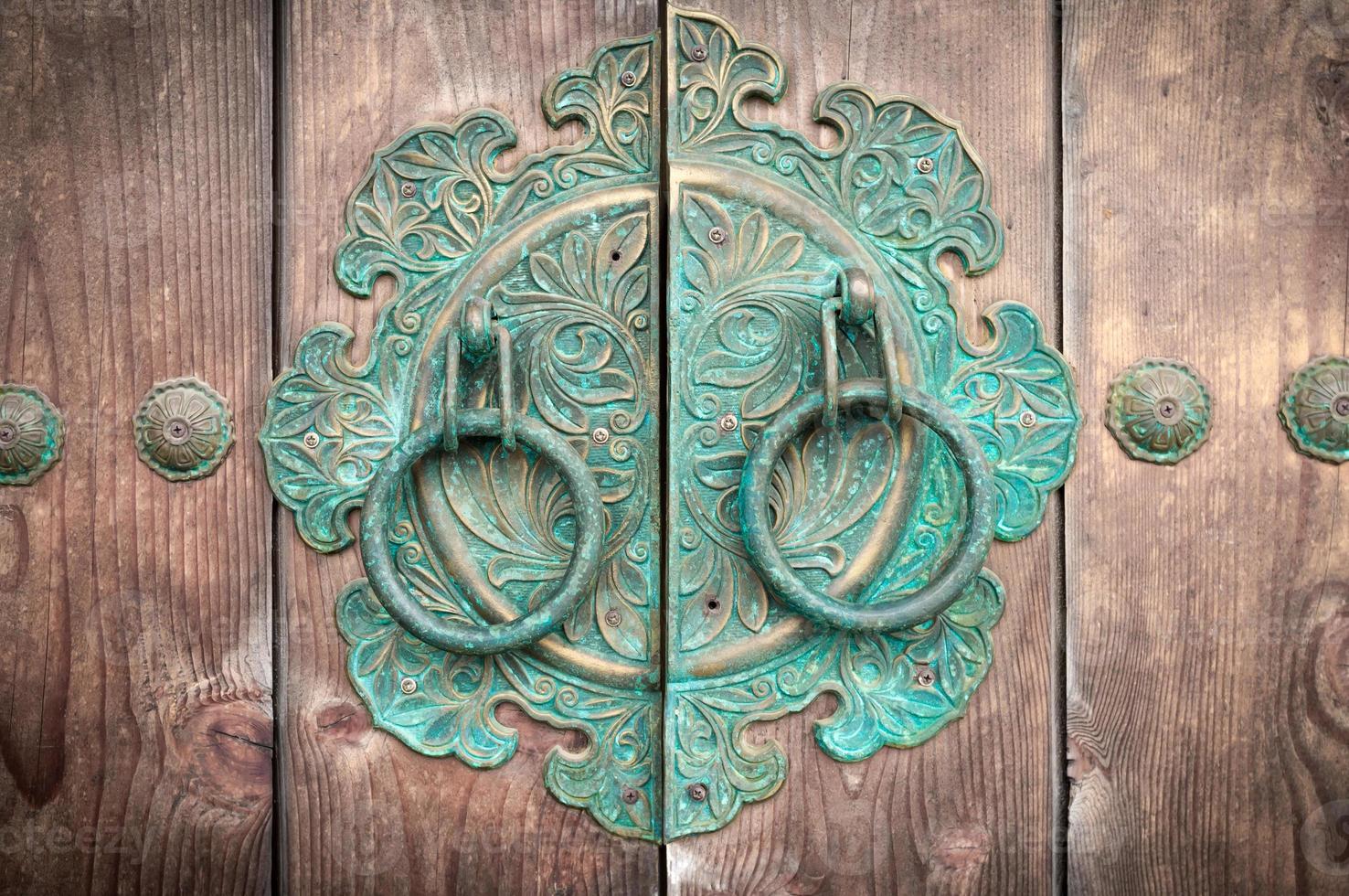 Traditional Korean door knockers. photo