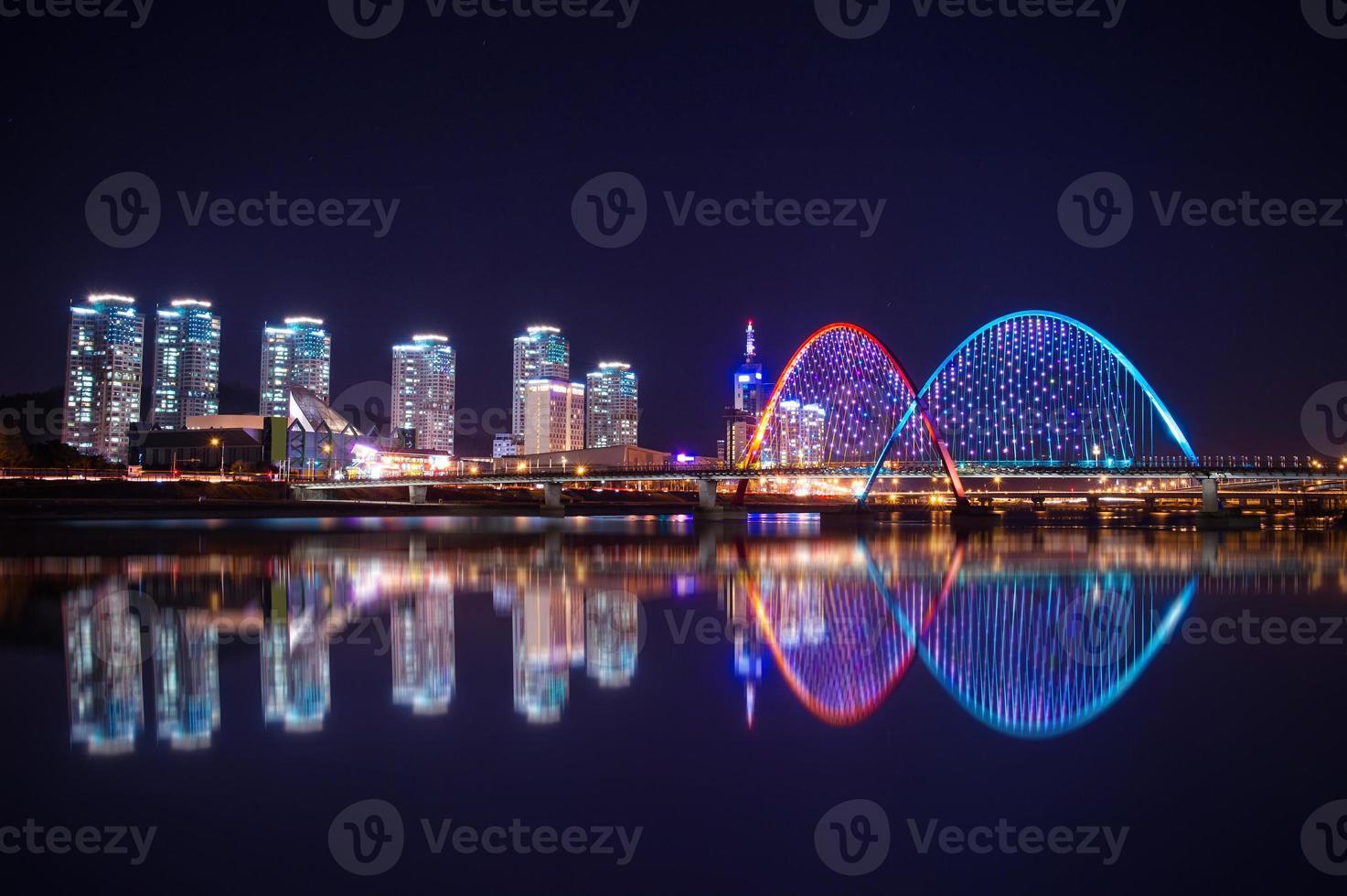 ponte expro à noite em daejeon, foto