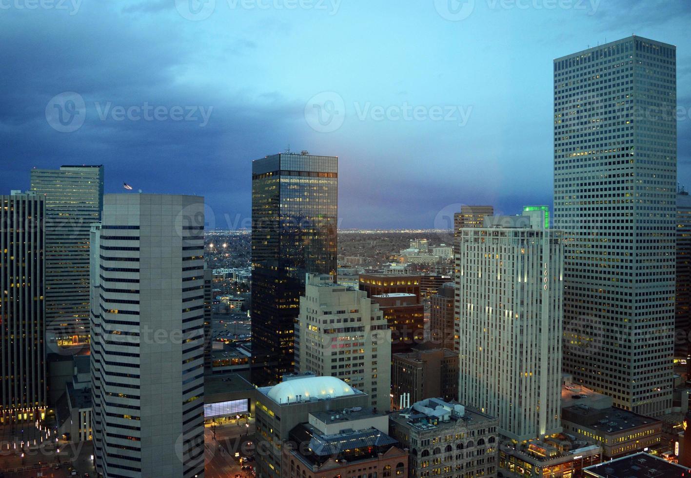 Denver at night photo