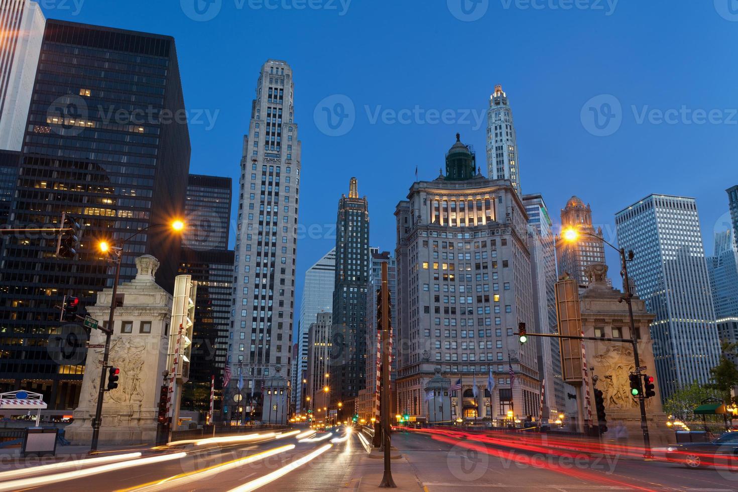 Avenida Michigan en Chicago. foto