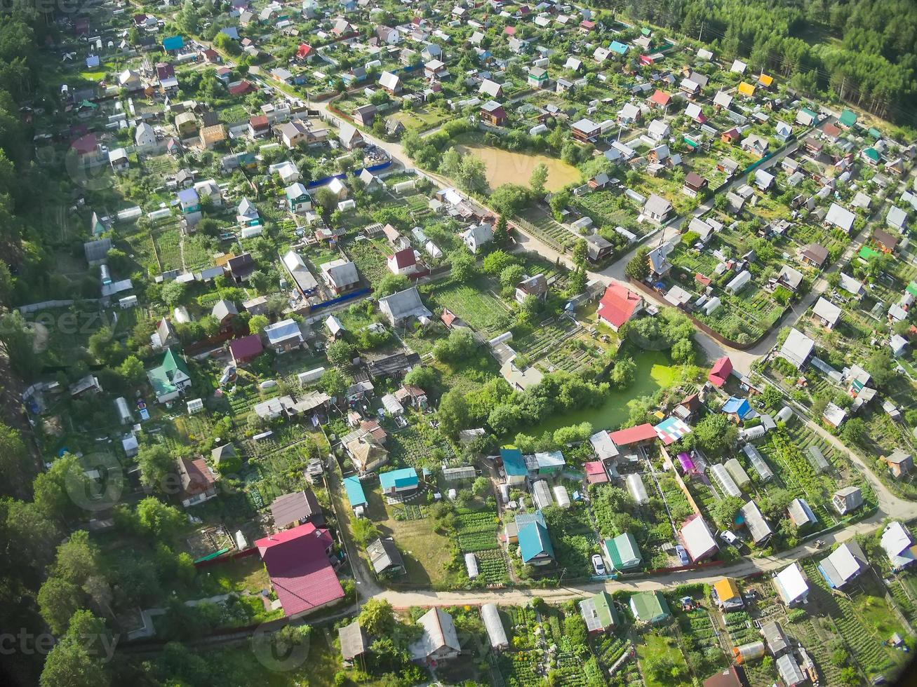 Bird's eye view of housing estate photo
