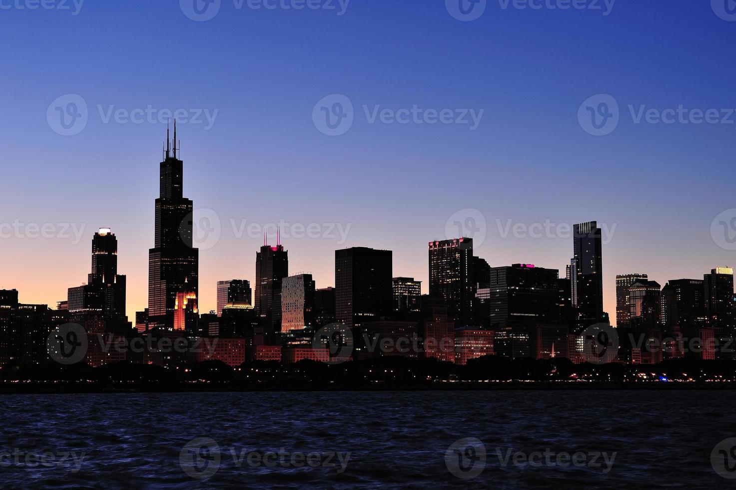 silhueta de chicago foto