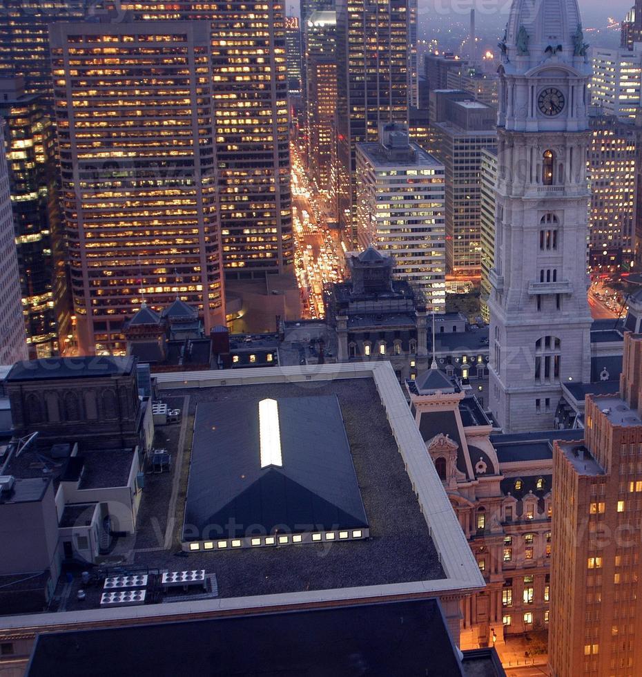 ciudad de noche foto